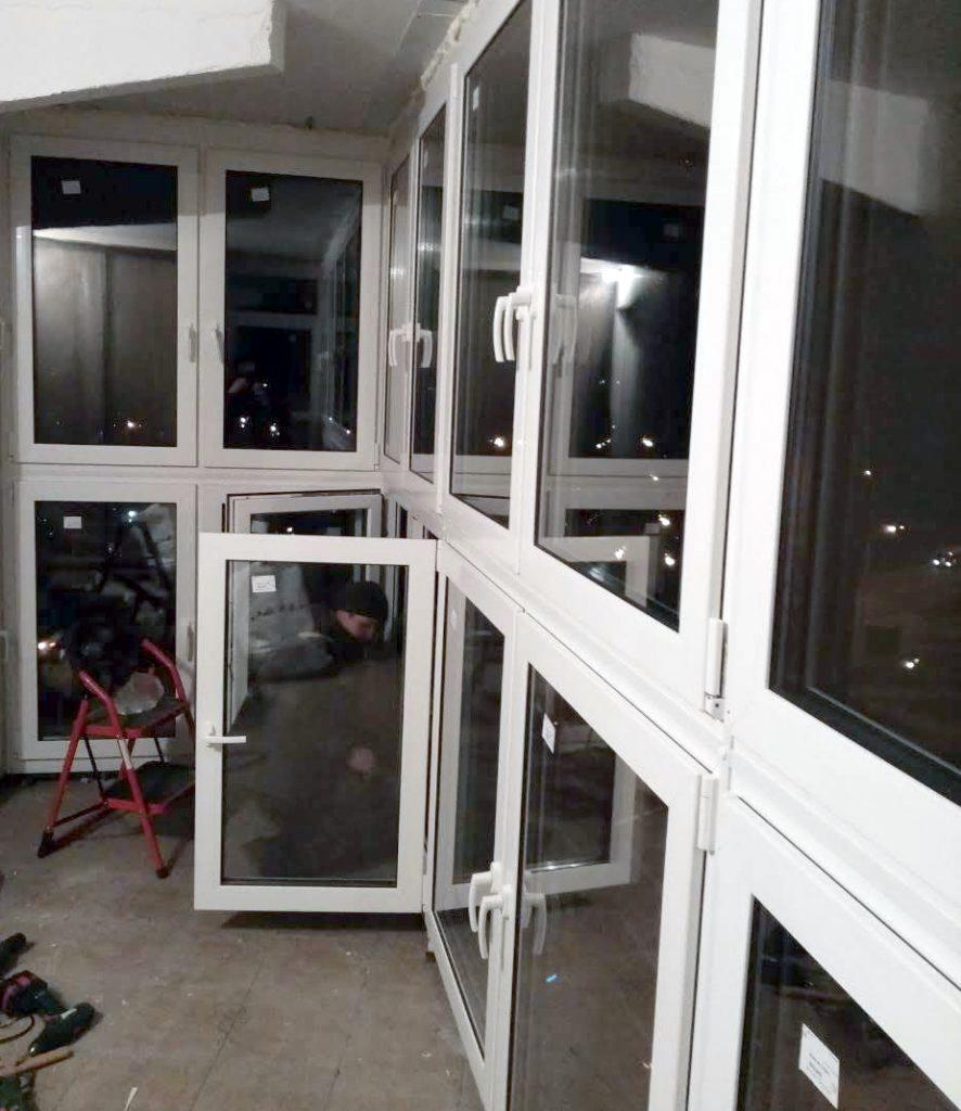 ремонт алюминиевой рамы балкон