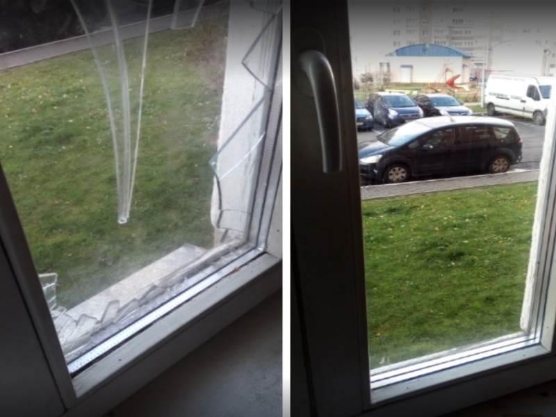 замена стеклопакета разбитого в деревянном окне